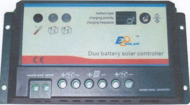 Controlador de Carga Solar Dupla Bateria duas baterias dual battery