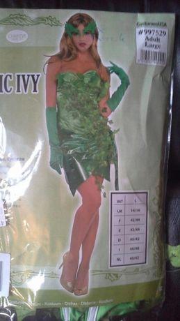 Kostium,strój karnawałowy,przebranie Zielona dama rozm.L NowyHalloween