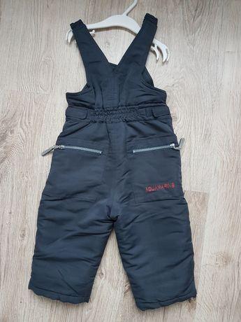 Spodnie zimowe 86/92 ocieplane, śniegowe dla chłopca