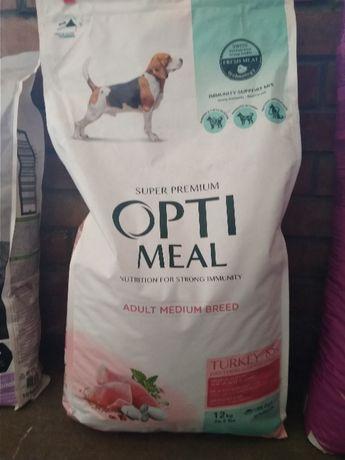Оптимил корм для собак средней породы индейка Optimeal 12 кг