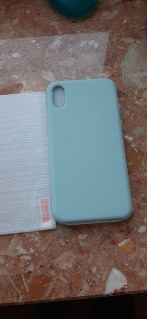 Matowa etui, case IPhone XS/X + szklo