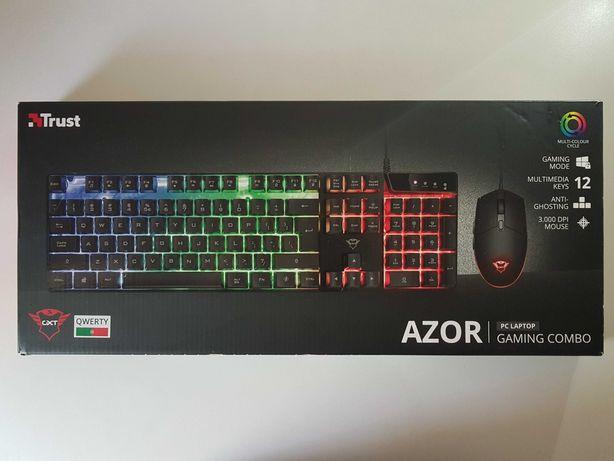 Teclado + Rato | Trust GXT 838 Azor Gaming Combo| RGB |*Bom Estado*
