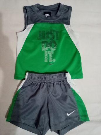 Спортивный костюм для мальчика летний, майка и шорты, 18 м