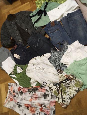 Wielka torba markowych ubrań dla dziewczyny rozmiar 34/36 na 13-16 lat