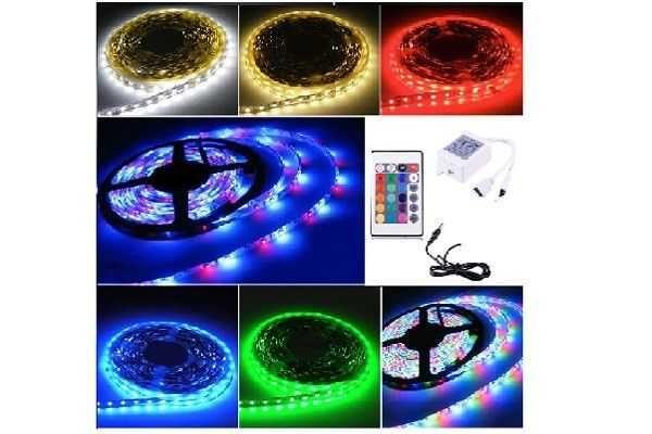 КОМПЛЕКТ Світлодіодна LED лента  RGB Всі кольори 12V 5 метрів Пульт!