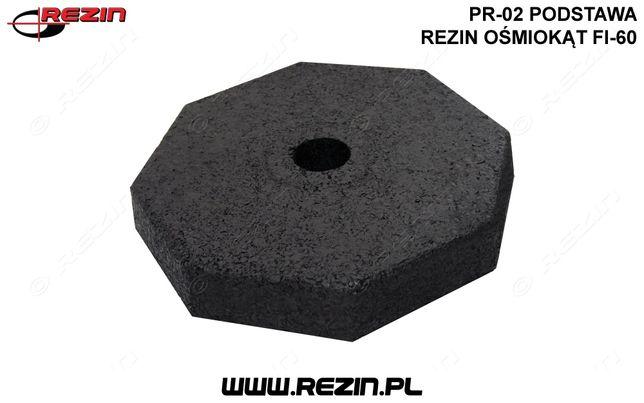 PR-02 podstawa REZIN ośmiokąt fi-60 / gumowa podstawa pod znak POLSKA
