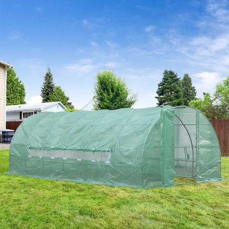 Estufa de Jardim com 6 janelas para Cultivo 6x3x2m verde NOVAS!