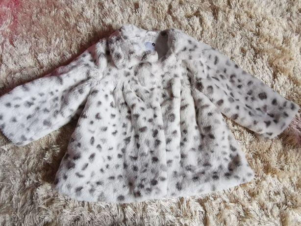 Grain de ble Piękne futerko kurtka płaszczyk super rozmiar 80/86