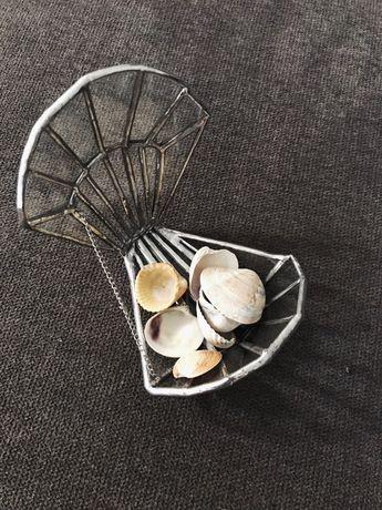 Шкатулка для обручальных колец «ракушка» , стеклянная шкатулка