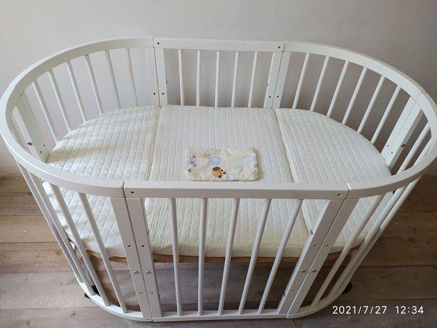 Детская овальная кроватка трансформер 6в1+в подарок аксессуары
