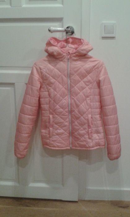 Bershka damska kurtka pikowana S pudrowy różowy Toruń - image 1