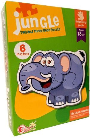 PIERWSZE puzzle edukacyjne grube układanki 15 el