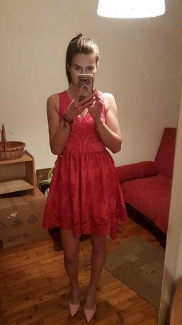 Sukienka malinowa Emo Xs