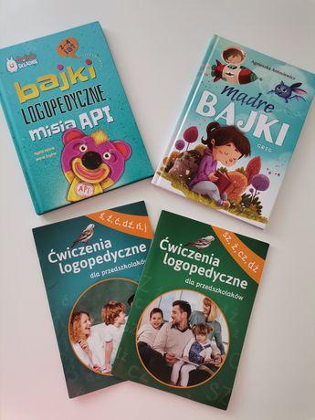 Zestaw książek madre bajki miś API logopedyczne
