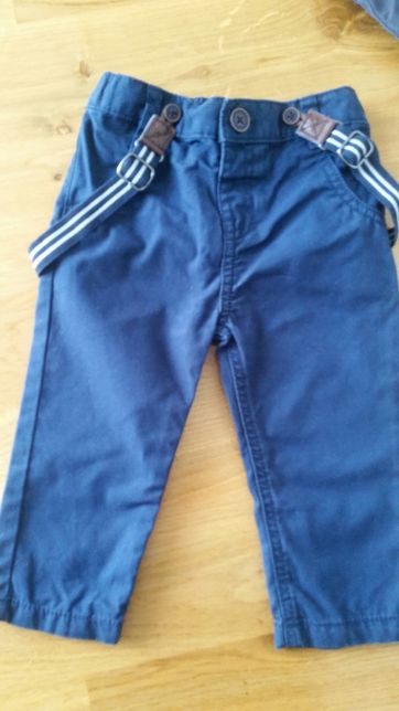 Spodnie z szelkami spodenki F&F 74