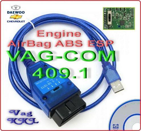 Elm327 USB VAG-COM 409.1 Vag KKL K-Line FTDI OBD2 с Перекл линий ОБД