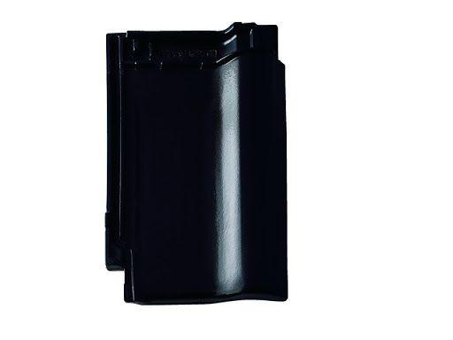 Braas Rubin 9V czarny błyszczący dachówka ceramiczna