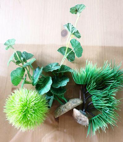 Zestaw roślin sztucznych do akwarium lub terrarium
