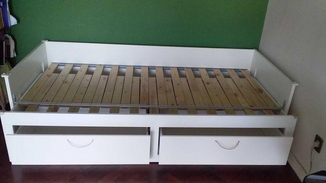 cama individual/dupla com gavetões Brimnes IKEA