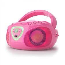 Roadie boombox CD USB MP3 radio AM/FM Bluetooth 2.1 gra kolorów LED