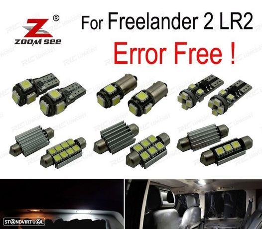 KIT COMPLETO DE 17 LÂMPADAS LED INTERIOR PARA LAND ROVER FREELANDER 2 LR2 2006-2013