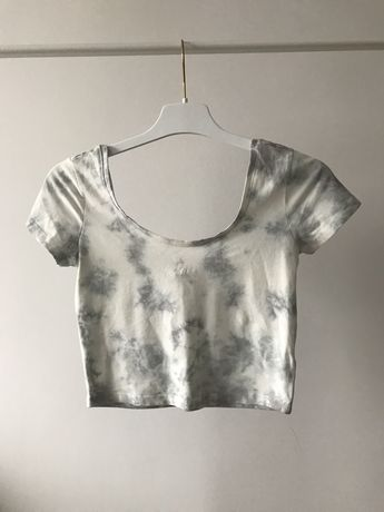 Crop top marmurkowy na lato hip hop swag atmosphere t-shirt typ zara