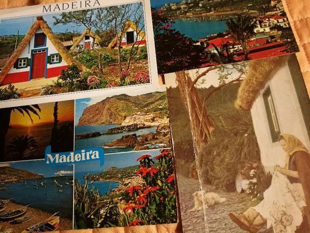 4 postais antigos da Madeira