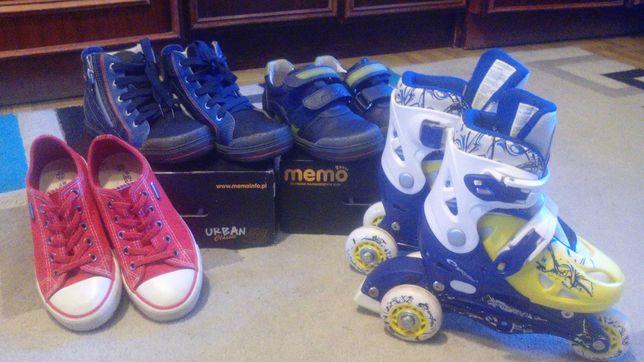 2 Pary butów firmy memo+buty sprandi+rolki spokey