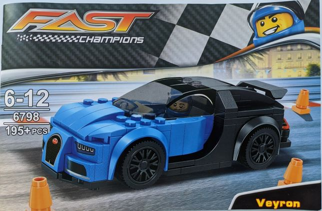 Конструктор гоночная машина Bugatti аналог Lego - Новый