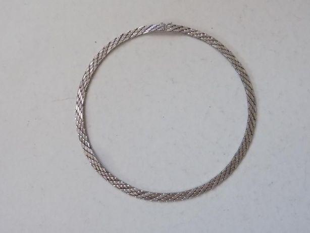 Piękny srebrny damski naszyjnik - 36,18 g. - srebro 925