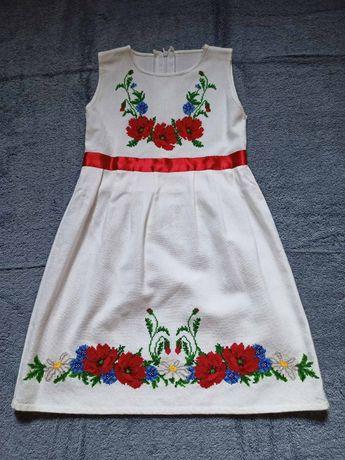 Вишиванка платье вышитое на 3-4 года
