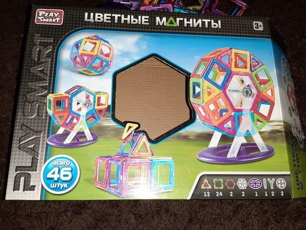 Цветные магниты, развивающая игрушка