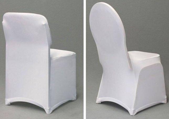 Pokrowce na krzesła / elastyczne / białe
