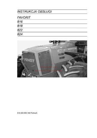 Instrukcja obsługi ciągniki faworit 816, 818, 822, 824