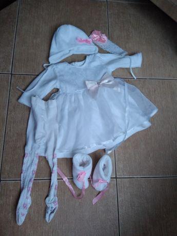 Ubranie zimowe do chrztu dla dziewczynki