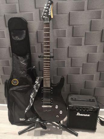 Gitara Washburn RX12 MB + Piecyk Ibanez IBZ10G + Pokrowiec+ stojak
