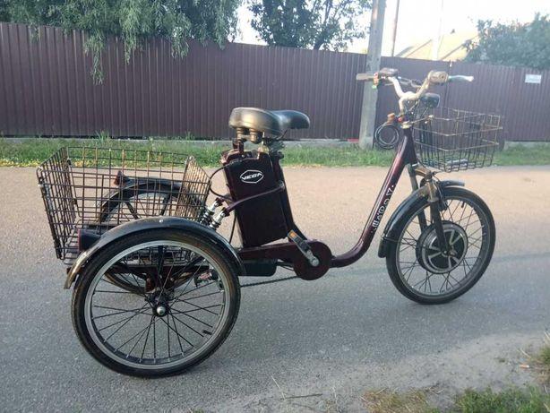 Електровелосипед 3-колісний VEGA HAPPY  2020 (RED) (трицикл)+реверс