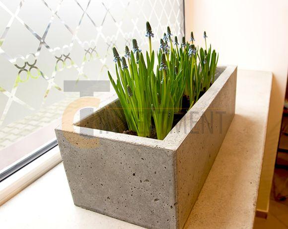 Donice betonowe ogrodowe 50x20x15 Donica ogrodowa - Duży wybór donic