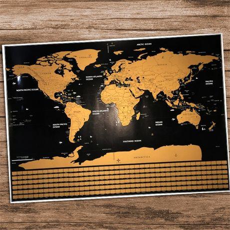 Varios Mapa Mundi Atlas p/ raspar Scratch viajantes wanderlust GRANDE