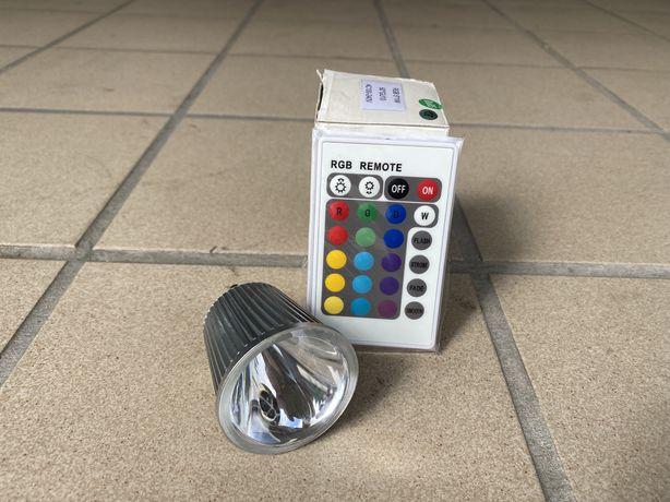 Foco LED RGB (com comando)