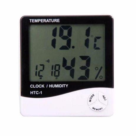 Termómetro & Higrómetro LCD com relógio - portes grátis #001.5