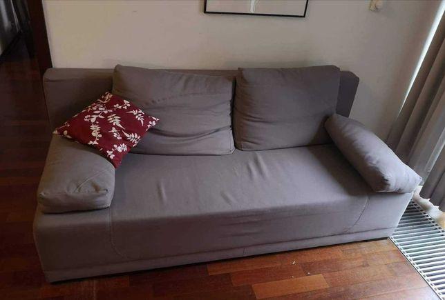Kanapa sofa wersalka rozkładana łóżko szara Ikea