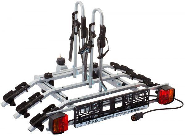 TYTAN PLUS 3 na max 3 rowery uchylna na hak,zamek,7PIN