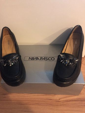 Buty mokasyny na koturnie Nina Basco wyjątkowe włoskie paragon