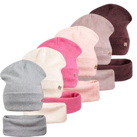 Комплект шапка с хомутом на флисе Герда ог.53-56см