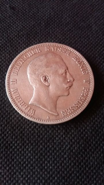 Monety 5 Marek 1876 A srebra-srebro 900 antyk.