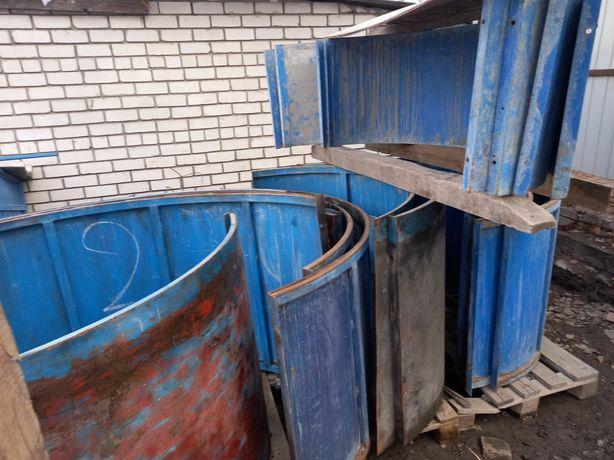 Оборудование :Формы для изготовления бетонных колец.