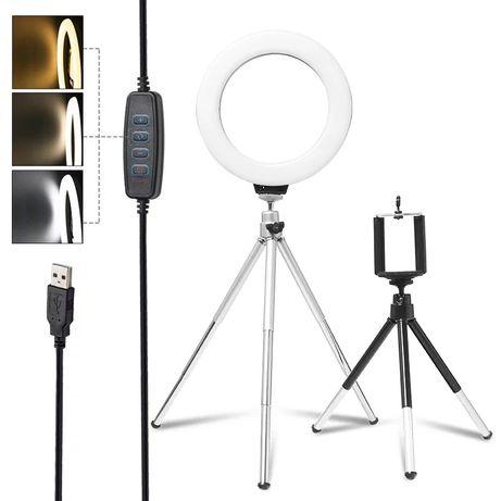 Кільцева кольцевая ледь led лампа селфи перукарня відео