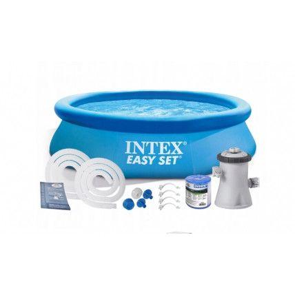 Детский надувной бассейн Intex 28122+насос-фильтр, 305*76, 3854л