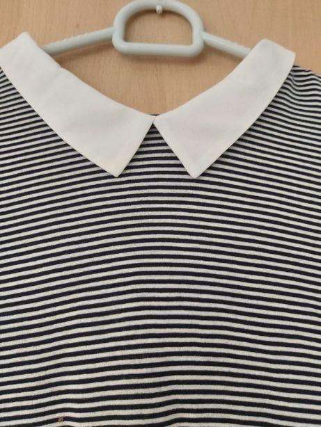Bluzka z krótkim rękawem w paski rozmiar L C&A